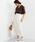 EMMEL REFINES(エメルリファインズ)の「【EMMEL REFINES】〔ハンドウォッシャブル〕SMF H/W LI Wタックマキシスカート �A(スカート)」|オフホワイト