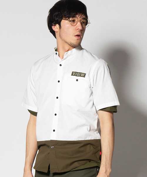 VIRGOwearworks(ヴァルゴウェアワークス)の「STAND CHANGE SHIRTS(シャツ/ブラウス)」|ホワイト