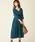 natural couture(ナチュラルクチュール)の「NEWカシュクールプリーツ2WAYワンピース(ワンピース)」|グリーン