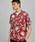 Ted Baker(テッドベーカー)の「GREG ハンドペイント 花柄半袖シャツ(シャツ/ブラウス)」|レッド