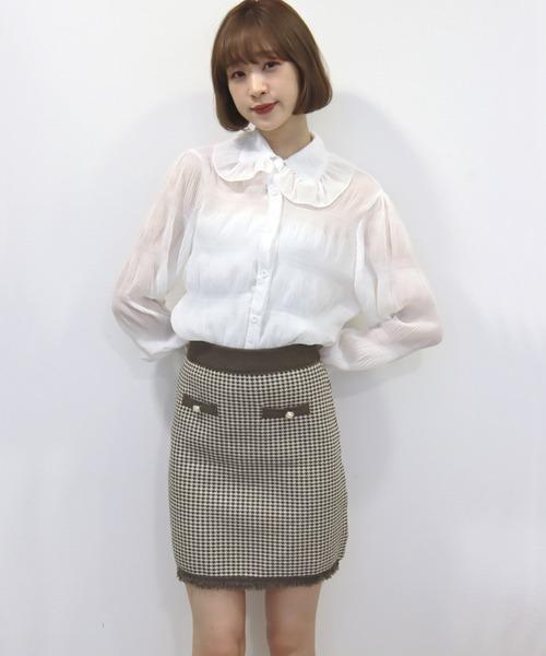 【titty&Co.PETIT】チェックジャガードスカート