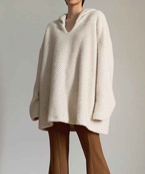 【chuclla】【2020/AW】Mink touch v-cut  pullover chw1417