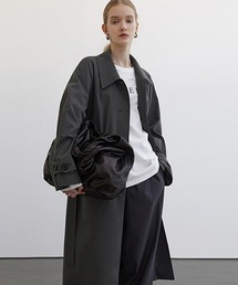 【Fano Studios】【2021SS】Raglan sleeve belted bal collar coat cb-3 FC21W019グレー