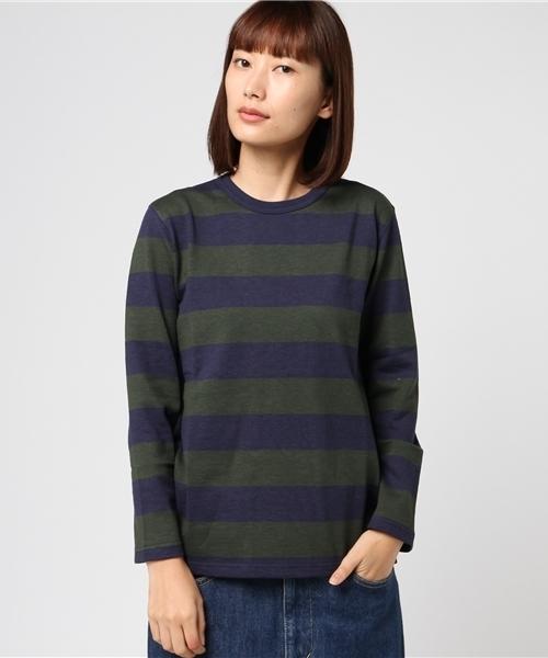 Tieasy / ティージー  別注ボーダークルーネックTシャツ