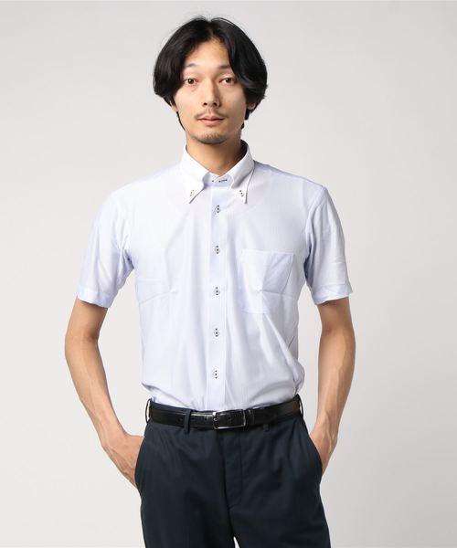 アイシャツ 半袖 ロンストR クレリックボタンダウン
