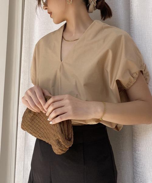 【chuclla】V-neck volume blouse sb-5 chw1228