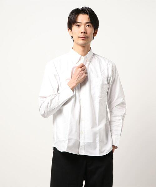 リラックスフィットオックスBDシャツ ボタンダウン オーバーサイズ/ビッグシルエット