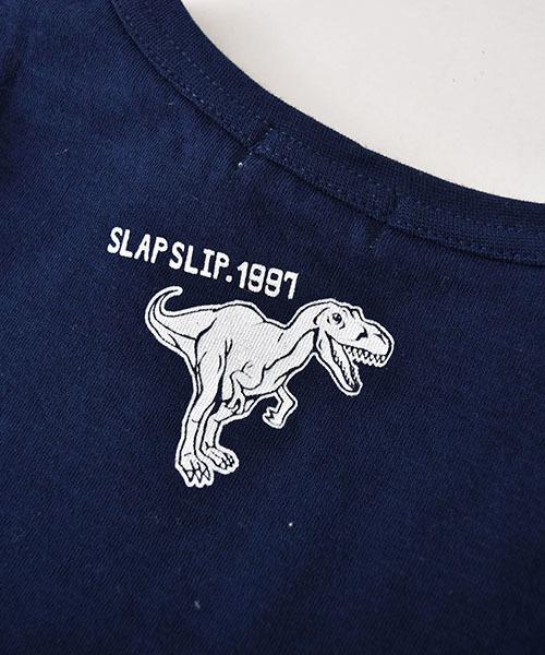 SLAP SLIP/接結天竺キョウリュウプリント長袖Tシャツ