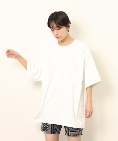 【 WILD THINGS / ワイルドシングス 】 BASIC POCKET TEE / ビッグポケットTシャツ WT21020AD・・