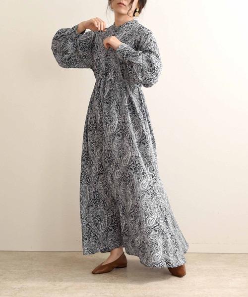 ペイズリーワンピースドレス