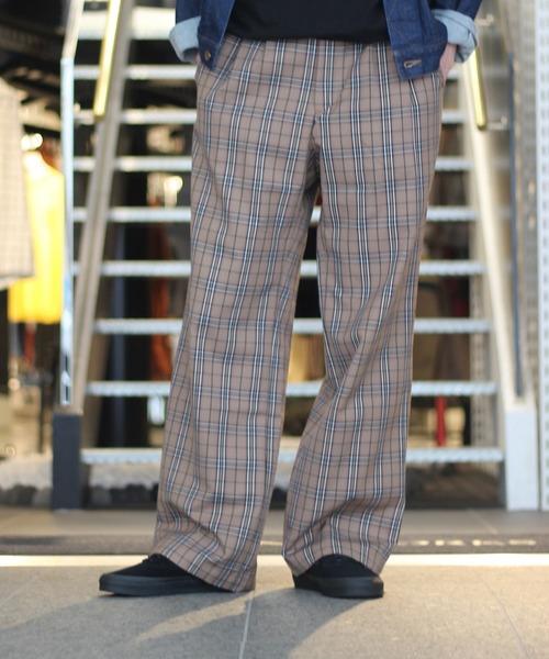 最も優遇 【セール】KINDA GARDEN BEIGE WIDE CHK メンズ,JOINT WIDE BEIGE PANTS(スラックス)|JOINT WORKS(ジョイントワークス)のファッション通販, レインボー家電:7b2a3784 --- heimat-trachtenbote.de
