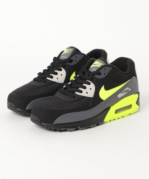 nike air max 90 essential dark grey volt black light bone sp