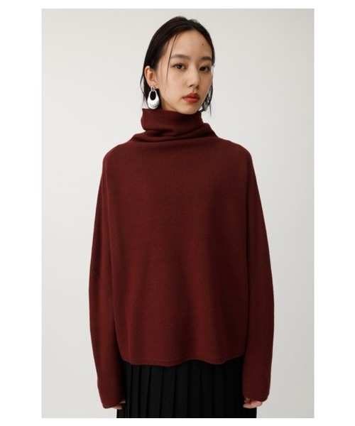 H/N ROLL UP KNIT TOP