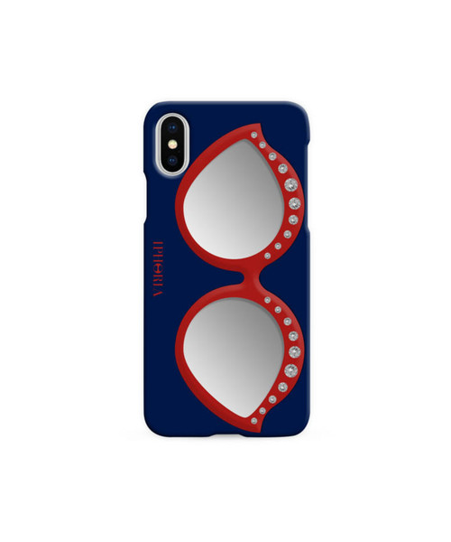 IPHORIA アイフォリア アイフォンケース Case with Mirror for Apple iPhone X/XS - Sunglasses Red