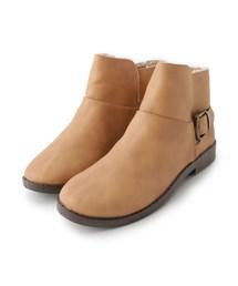 SHOO・LA・RUE(シューラルー)のバックルショートブーツ(ブーツ)