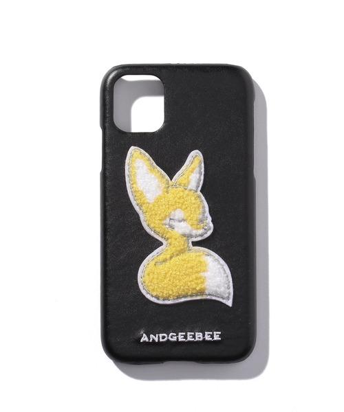 ANDGEEBEE(アンジービー)の「フェネックサガラシシュウケースiPhone11(モバイルケース/カバー)」|ブラック