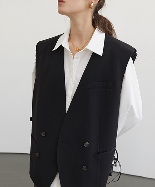 【Fano Studios】【2021SS 先行予約】Double breasted cut-off vest FC21W038
