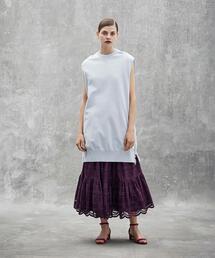 Drawer コットンエンブロダイリーギャザースカート