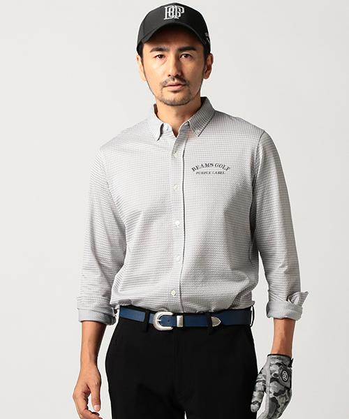 超熱 BEAMS GOLF PURPLE LABEL / ギンガムチェック ポロシャツ, スキー用品通販 スノーファミリー fc24cc55