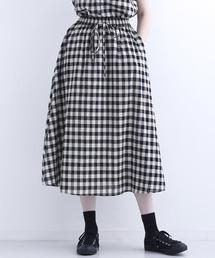 MERLOT IKYU(メルローイキュウ)のギンガムチェック柄スカート1547(スカート)