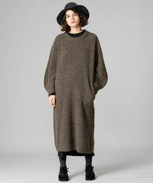 unfil(アンフィル)の【unfil】キャメルニットドレス WOMEN(ワンピース)