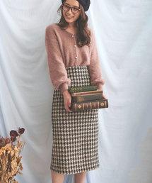 Noela(ノエラ)のチェックツィードペンシルスカート(スカート)