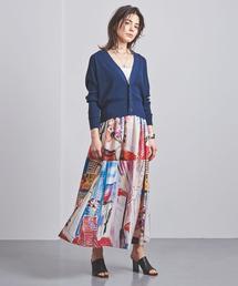 <M・fil(エムフィル)>プリント ギャザースカート ■■■