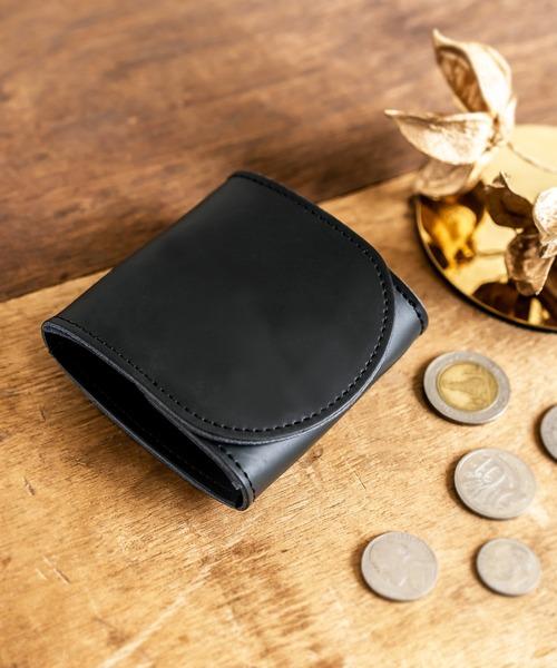Rename レザー コインケース ウォレット 二つ折り 2つ折りミニ財布 ミニウォレット スクエアウォレット 経年変化 コンパクト
