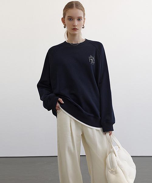 【Fano Studios】【2021SS 先行予約】Raglan sleeve brand logo sweatshirt FC21S008