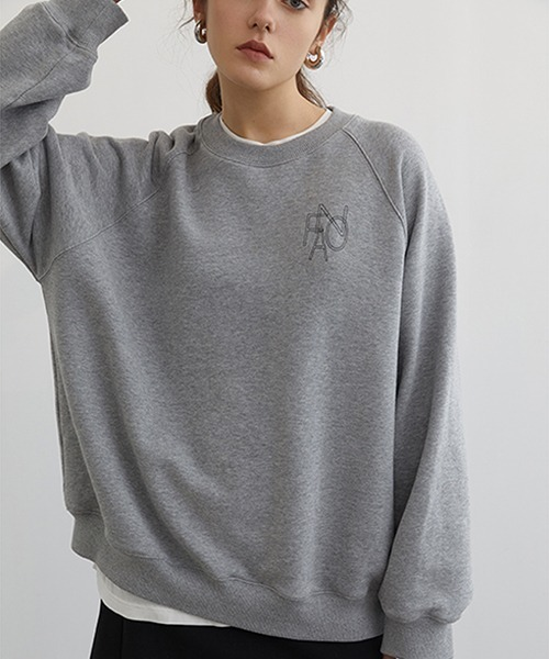 【Fano Studios】【2021SS】Raglan sleeve brand logo sweatshirt FC21S008