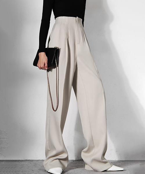 【chuclla】【2021/AW】High waist pleated design pants chw21a057