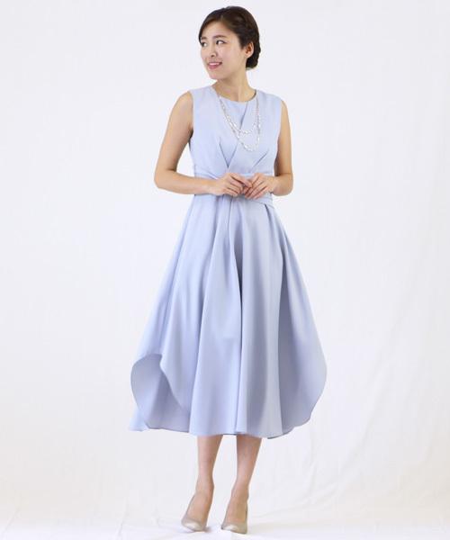【名入れ無料】 ネックレス付きウエストツイストデザインのセミロングワンピース/ 結婚式ワンピース・お呼ばれパーティードレス(ドレス) Dorry|Dorry/ Doll(ドリードール)のファッション通販, カワベマチ:2513a71b --- blog.buypower.ng