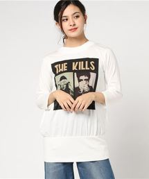 THE KILLS/NO WOW FRONT プリント 七分袖ビッグTシャツ