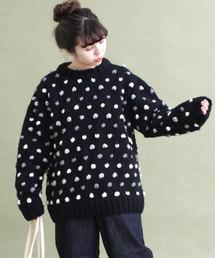 Dot&Stripes CHILD WOMAN(ドットアンドストライプス チャイルドウーマン)の【WEB限定】ネパール手編みポップコーンミディアムニット マルチカラー(ニット/セーター)
