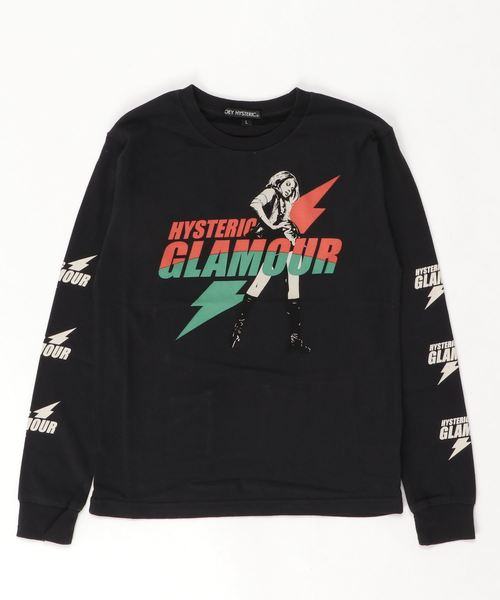 ELECTRIC LADY pt リブ付Tシャツ【L】
