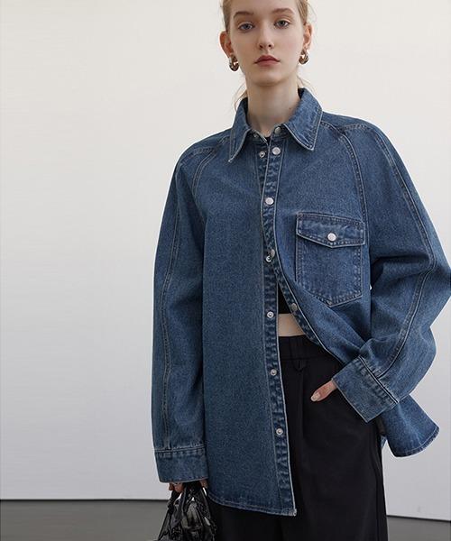 【Fano Studios】【2021SS】Oversized denim shirt FC21S005