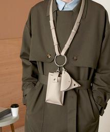 シンセティックレザー リングマルチショルダーバッグ EMMA CLOTHESグレイッシュベージュ