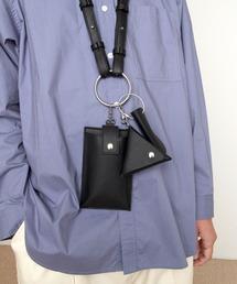 シンセティックレザー リングマルチショルダーバッグ EMMA CLOTHESブラック