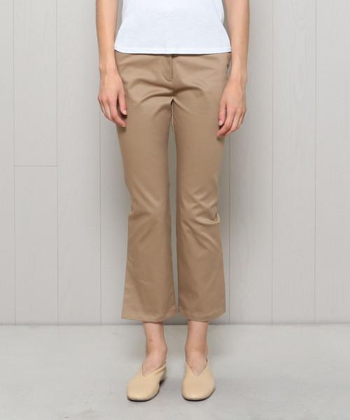 <H>CROPPED SLIT FLARE PANTS/パンツ о