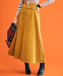◆NFC ワイドコールテン マキシ スカート