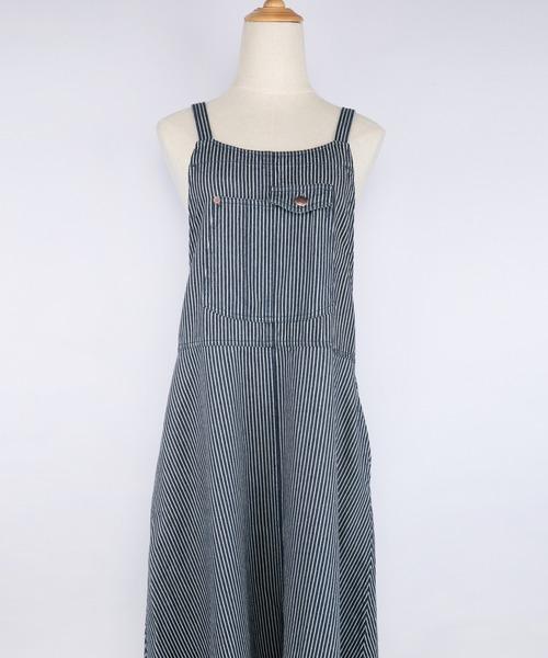 [grn ジーアールエヌ]ツイル/デニム ジャンパースカート GL733077Q