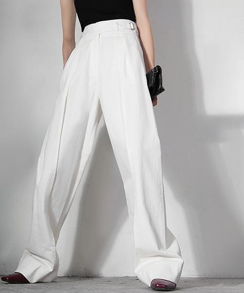 【chuclla】【2021/AW】Tie belt white wide denim chw21a058