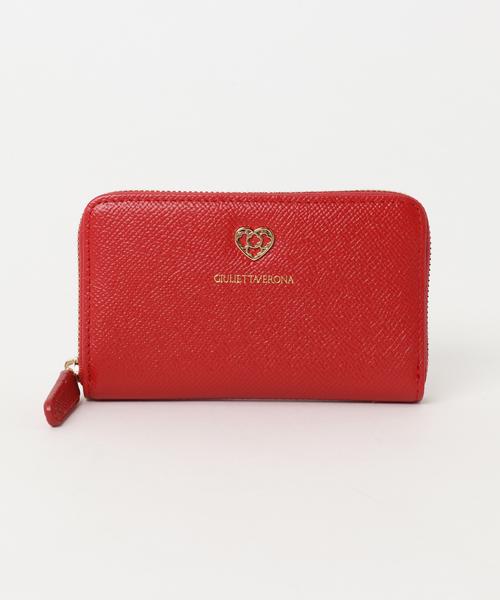GIULIETTAVERONA(ジュリエッタヴェローナ)の「【GIULIETTAVERONA】 ジュリエッタヴェローナ ラウンドファスナー財布(財布)」|レッド