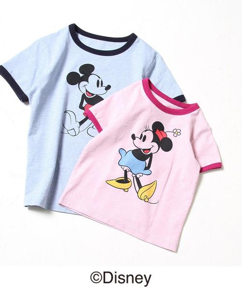 【coen キッズ / ジュニア】(コーエン限定)MICKEY MOUSE/リンガー TEE