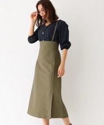 aquagirl/l'epicerie(アクアガール/レピスリー)の2WAYサス付きハイウエストスカート(スカート)