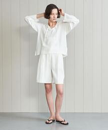 <H>DOUBLE CLOTH SHORT PANTS/パンツ
