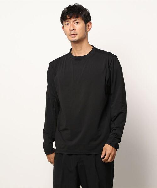COLAMTOTTE ACTIVE ストレッチ性 クルーネックロングTシャツ