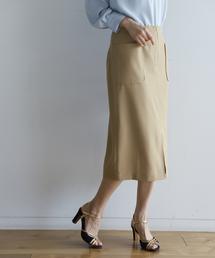BABYLONE(バビロン)のリネンライクタイトスカート(スカート)