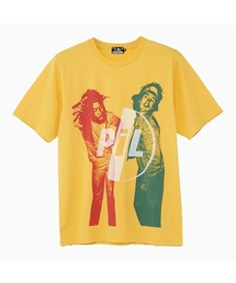 DENNIS MORRIS/JOHN LYDON W BIG YOUTH Tシャツイエロー