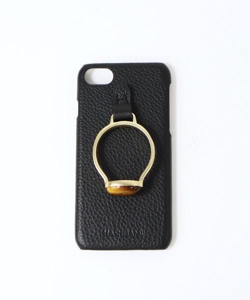 【 Hashibami / ハシバミ 】 # iPhone 8/7/6/6s/SE(第2世代) スマホ・携帯カバー 天然石リング付きケース
